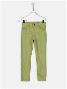 Yeşil Erkek Çocuk Slim Gabardin Pantolon 9S7685Z4 LC Waikiki