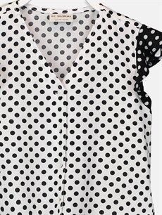 Kız Çocuk Kız Çocuk Puantiyeli Viskon Gömlek