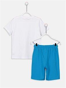 %100 Pamuk  Erkek Çocuk Baskılı Tişört ve Şort