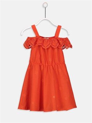 Kız Çocuk Fisto İşlemeli Vual Elbise -9S9314Z4-HBP