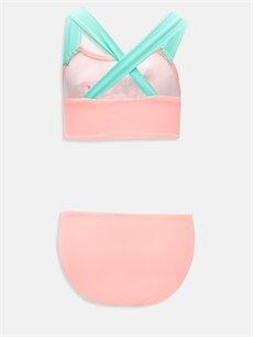 %80 Poliamid %20 Elastan %100 Polyester  Kız Çocuk Çiçek Aplikeli Bikini