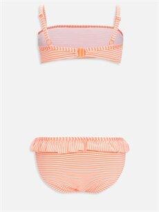 %55 Poliester %39 Poliamid %6 Elastan %100 Polyester  Kız Çocuk Fırfırlı Bikini