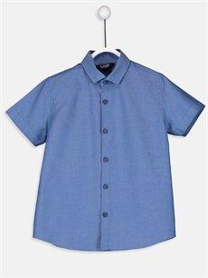 %100 Pamuk %50 Pamuk %50 Polyester Standart Kısa Kol Düz Erkek Çocuk Oxford Gömlek ve Papyon
