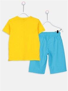 %100 Pamuk %100 Pamuk  Erkek Çocuk Pamuklu Tişört ve Şort