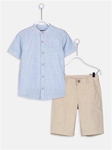 Lacivert Erkek Çocuk Gömlek ve Roller 9SH923Z4 LC Waikiki