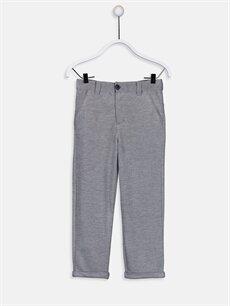 Lacivert Erkek Çocuk Armürlü Pantolon 9SH994Z4 LC Waikiki