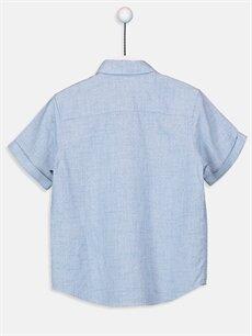 %100 Pamuk Standart Kısa Kol Düz Erkek Çocuk Kısa Kollu Poplin Gömlek