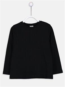 Siyah Erkek Çocuk Pamuklu Basic Tişört 9SI695Z4 LC Waikiki