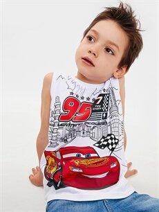 Erkek Çocuk Erkek Çocuk Arabalar Pamuklu Atlet