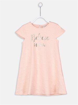 Kız Çocuk Jakarlı Elbise - LC WAIKIKI