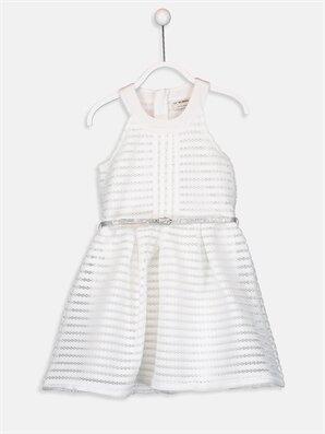 Kız Çocuk Dantel Elbise ve Kemer - LC WAIKIKI