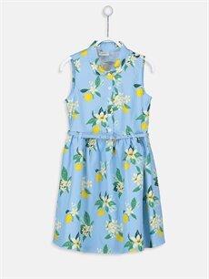 Mavi Kız Çocuk Çiçekli Elbise ve Kemer 9SK171Z4 LC Waikiki