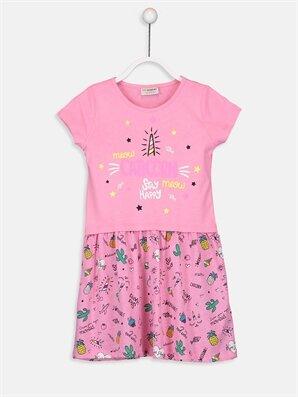 Kız Çocuk Baskılı Örme Elbise - LC WAIKIKI