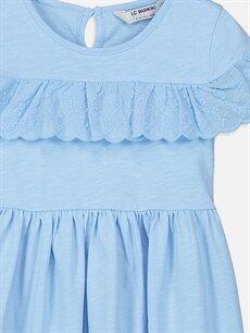 Kız Çocuk Kız Çocuk Fisto Detaylı Pamuklu Elbise