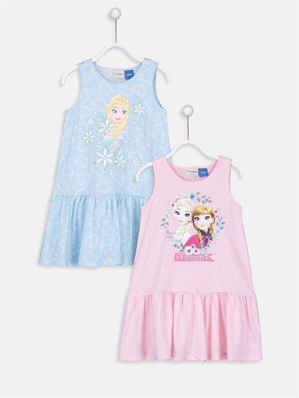 Kız Çocuk Frozen Elbise 2'li - LC WAIKIKI