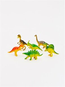 %100 Plastik Oyuncak Erkek Çocuk Oyuncak Dinozor Seti 9'lu