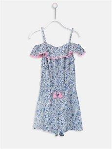 Mavi Kız Çocuk Çiçekli Viskon Tulum 9SP485Z4 LC Waikiki