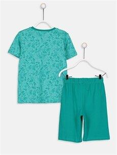 %100 Pamuk Pijamalar Standart Erkek Çocuk Baskılı Pijama Takımı