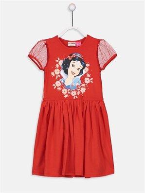 Kız Çocuk Pamuk Prenses Baskılı Elbise ve Pelerin - LC WAIKIKI