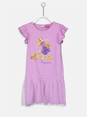 Kız Çocuk Rapunzel Pamuklu Elbise - LC WAIKIKI