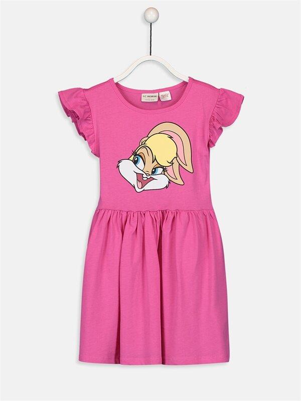 Kız Çocuk Lola Bunny Pamuklu Elbise - LC WAIKIKI