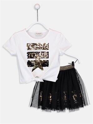 Kız Çocuk Tişört ve Tütü Etek - LC WAIKIKI