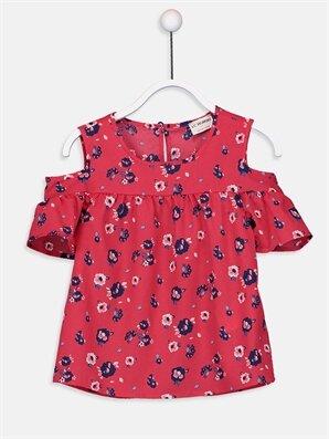 Kız Çocuk Omuzu Açık Çiçekli Bluz - LC WAIKIKI