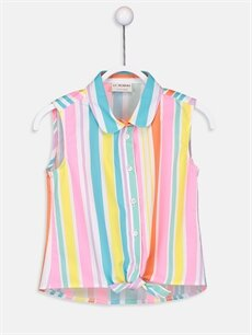 Çok Renkli Kız Çocuk Pamuklu Gömlek 9SV137Z4 LC Waikiki