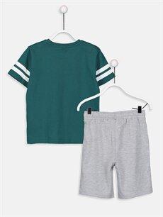 %100 Pamuk %62 Pamuk %38 Polyester  Erkek Çocuk Pamuklu Tişört ve Şort