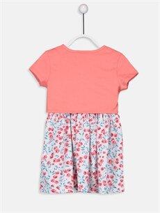 %100 Pamuk %100 Pamuk Diz Üstü Desenli Kız Çocuk Elbise ve Bolero