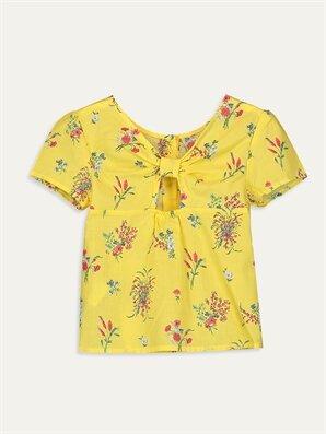 Kız Çocuk Çiçekli Poplin Bluz - LC WAIKIKI
