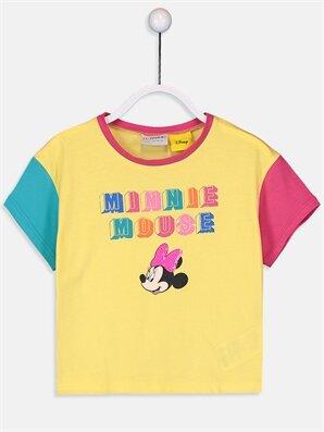 Kız Çocuk Minnie Mouse Pamuklu Tişört - LC WAIKIKI