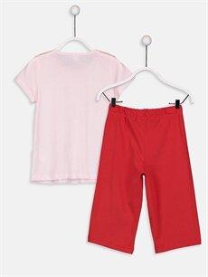 %100 Pamuk Standart Pijamalar Kız Çocuk Pijamaskeliler Pamuklu Pijama Takımı