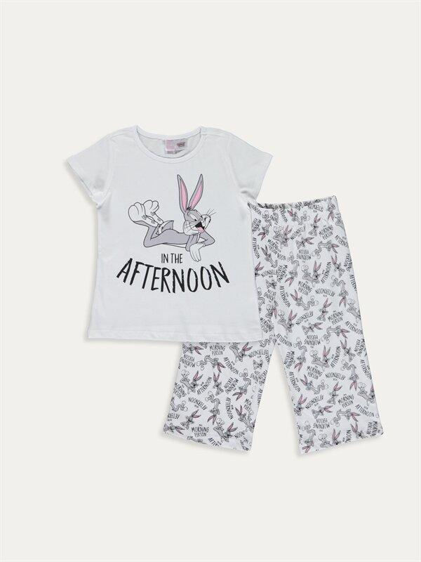 Kız Çocuk Bugs Bunny Pamuklu Pijama Takımı - LC WAIKIKI