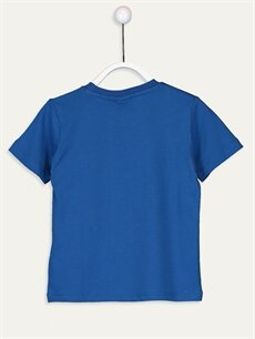 %100 Pamuk Baskılı Normal Bisiklet Yaka Tişört Kısa Kol Erkek Çocuk Pijamaskeliler Pamuklu Tişört