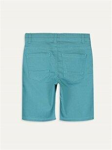 %66 Pamuk %30 Polyester %4 Elastan Şort Erkek Çocuk Gabardin Bermuda
