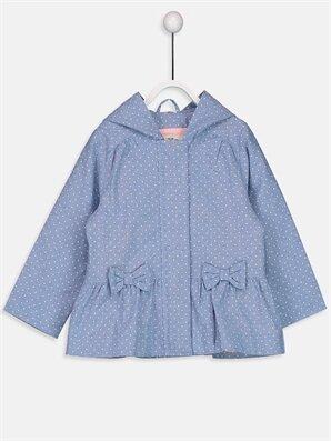 Kız Bebek Kapüşonlu Puantiyeli Mont - LC WAIKIKI