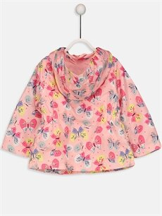 %100 Polyester %100 Pamuk Mont Kız Bebek Kapüşonlu Desenli Mont