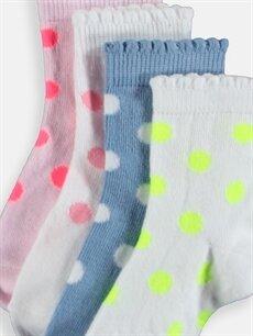 Çok Renkli Kız Bebek Soket Çorap 4'lü