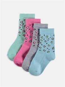 Çok Renkli Kız Bebek Soket Çorap 4'lü 9S2146Z1 LC Waikiki