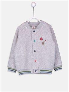 Gri Erkek Bebek Nakışlı Sweatshirt 9S2218Z1 LC Waikiki