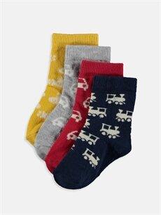 Çok Renkli Erkek Bebek Soket Çorap 4'lü 9S2259Z1 LC Waikiki