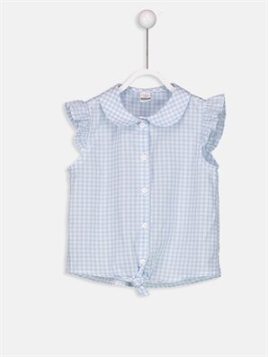 Kız Bebek Ekose Desenli Vual Gömlek - LC WAIKIKI