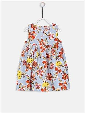Kız Bebek Desenli Poplin Elbise - LC WAIKIKI