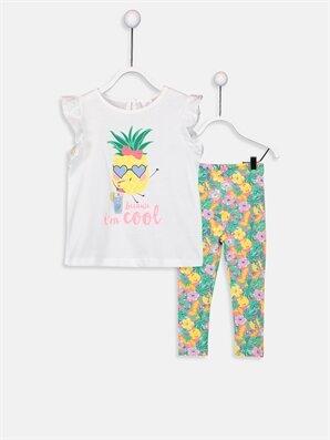 Kız Bebek Pamuklu Tişört Ve Tayt  - LC WAIKIKI