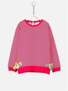 Kırmızı Kız Bebek Pamuklu Tişört 9S3455Z1 LC Waikiki