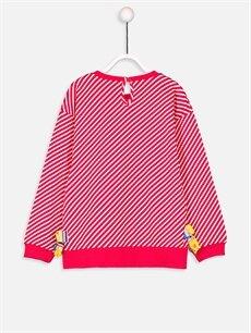 %100 Pamuk Standart Tişört Çizgili Uzun Kol Bisiklet Yaka Kız Bebek Pamuklu Tişört