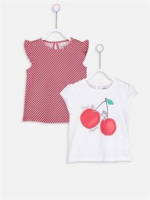 Kız Bebek Pamuklu Tişört 2'li  - LC WAIKIKI