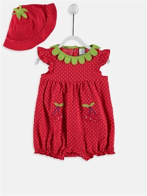 Kız Bebek Pamuklu Tulum Ve Şapka - LC WAIKIKI