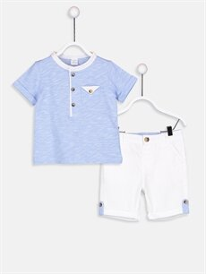 Mavi Erkek Bebek Tişört Ve Şort 9S4053Z1 LC Waikiki